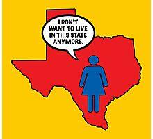 Texas vs Women Photographic Print