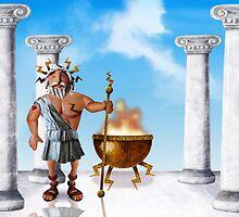 Zeus, God of Thunder by Stijn Van Elst