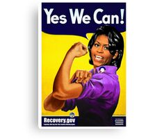 Recovery.gov Michelle Obama as Rosie The Riveter Canvas Print