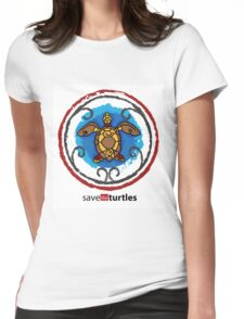 Save the Turtles Womens Fitted T-Shirt