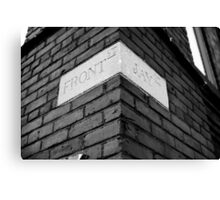 On the Corner of Front and Jay. Urban architecture Canvas Print
