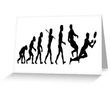 Rugby evolution Greeting Card