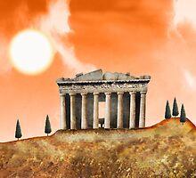 Parthenon Exterior by Stijn Van Elst
