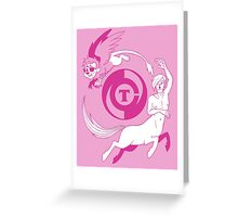 Conjectural Mythology-- Pink Greeting Card