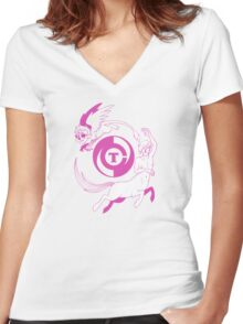 Conjectural Mythology-- Pink Women's Fitted V-Neck T-Shirt