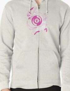Conjectural Mythology-- Pink Zipped Hoodie
