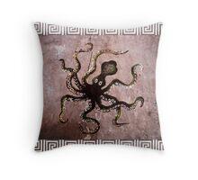 Minoan Octopus Throw Pillow