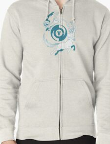 Conjectural Mythology-- Blue Zipped Hoodie