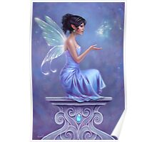 Opalite Fairy with Glowing Butterfly Poster
