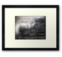 Glass Cage  Framed Print