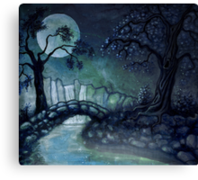 Moonlight Bridge Canvas Print
