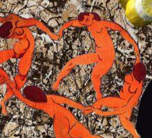 Pollock, Picasso, Matisse, Heda, Whistler Sticker