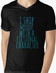 i ship myself with a fictional character Mens V-Neck T-Shirt