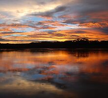 Sunset over Coffs Creek by MickDee