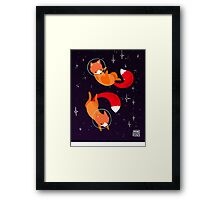 Space Foxes Framed Print