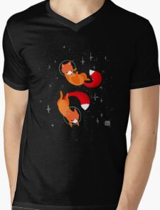 Space Foxes Mens V-Neck T-Shirt
