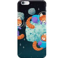 Red Space Pandas iPhone Case/Skin