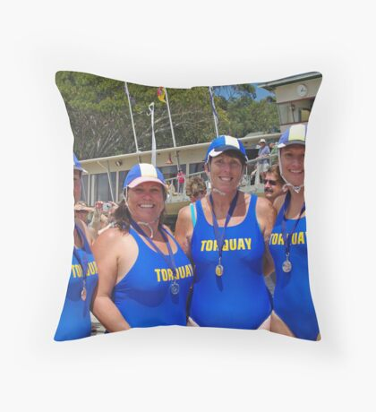 Torquay Masters medalists at Lorne Throw Pillow