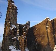 Strathaven Castle Courtyard by Lewis MacKenzie