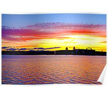 Sunset Lake Burley Griffin Poster