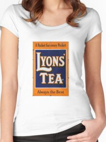 Old style Lyons' Tea Advertisement Women's Fitted Scoop T-Shirt