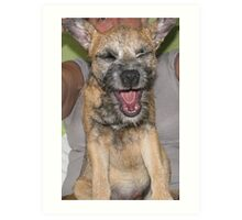 Dog Yawning Art Print