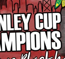 Blackhawks Stanley Cup Champions Sticker