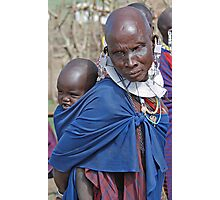 Maasai Mother and Child, Tanzania Photographic Print