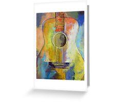 Guitar Melodies Greeting Card