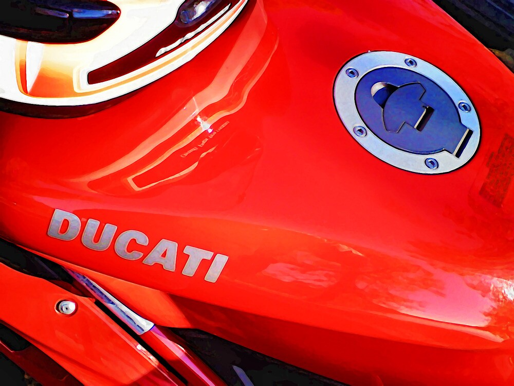 Red Ducati 848 Motorcycle by Dave McBride