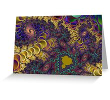 A Colorful Chaotic Lightening Storm Greeting Card