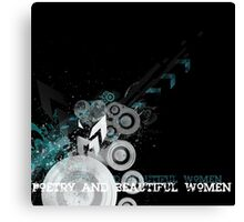 the new poetry and beautiful women banner  Canvas Print