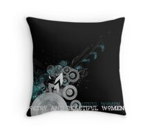 the new poetry and beautiful women banner  Throw Pillow