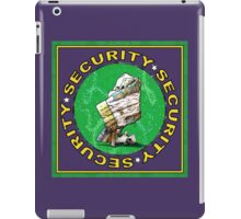 Bear & Blanket Security Services (1) iPad Case/Skin