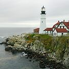 Portland Headlight by Roger Bernabo