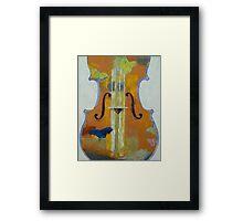 Violin Butterflies Framed Print