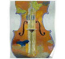 Violin Butterflies Poster