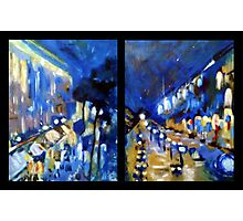 Rainy Paris Dyptych Photographic Print