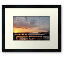Charlotte Harbor at Sunset, As Is Framed Print