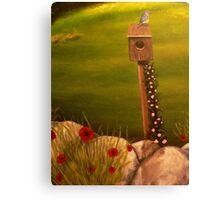 Bluebird at home Canvas Print
