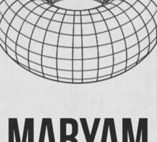 MARYAM MIRZAKHANI - Women In Science Collection Sticker