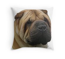 Shar Pei Throw Pillow