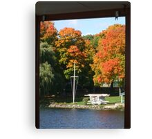 Fall day on the lake Canvas Print