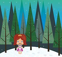 December forest by geminiska