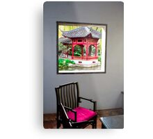 Looking out the window, Chinese Gardens, Australia Metal Print