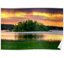 Green Island Orange Sunset-Second Look Poster