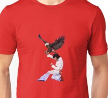 Elvis Hunts with an Eagle Unisex T-Shirt