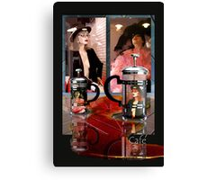 Menu Template for Coffee House Canvas Print