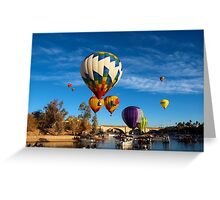 Balloons Over The Channel Greeting Card