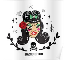 Basic Rockabilly Girl Poster